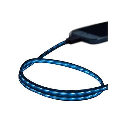 藤本電業 イルミネーションケーブル Lightningケーブル ケーブル長80cm ブルー×ブラック  CK-L03BLBK 画像2