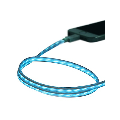 藤本電業 イルミネーションケーブル Lightningケーブル ケーブル長80cm ブルー×ホワイト  CK-L03BLWH 画像2