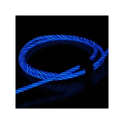 藤本電業 2WAYイルミネーションケーブル microUSBケーブル Lightning変換コネクタ付 ケーブル長80cm ブルー  CK-L06BL 画像4