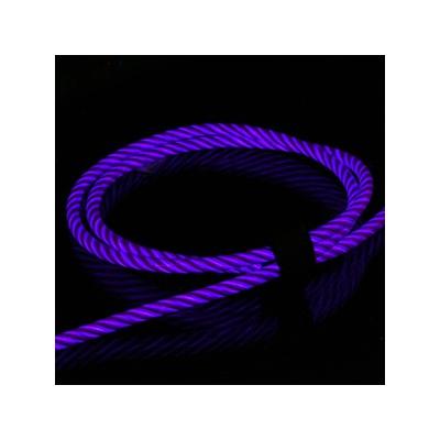 藤本電業 2WAYイルミネーションケーブル microUSBケーブル Lightning変換コネクタ付 ケーブル長80cm パープル  CK-L06PU 画像4