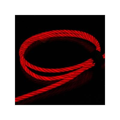 藤本電業 2WAYイルミネーションケーブル microUSBケーブル Lightning変換コネクタ付 ケーブル長80cm レッド  CK-L06RD 画像4