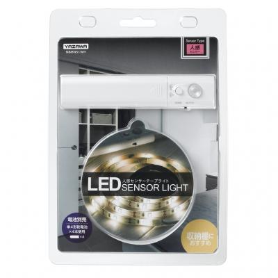 YAZAWA(ヤザワ) テープセンサーライトM 乾電池式 白色LED×30灯 人感センサー付  NBMN51WH 画像4