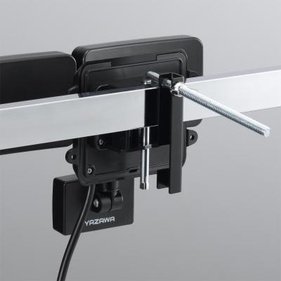 YAZAWA(ヤザワ) LEDセンサーライト ACコンセント式 防雨タイプ 調光タイプ 6W白色LED×2灯 リモコン付  SLR6LEA2 画像2