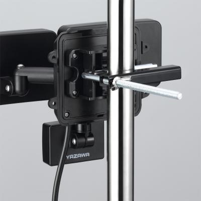 YAZAWA(ヤザワ) LEDセンサーライト ACコンセント式 防雨タイプ 調光タイプ 6W白色LED×2灯 リモコン付  SLR6LEA2 画像3