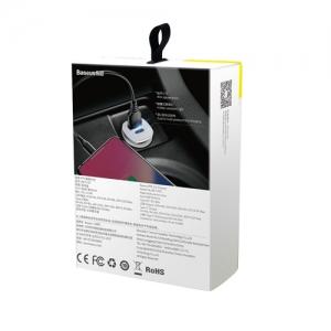 BASEUS(ベースアス) カーチャージャー USB2ポート 最大出力3.1A ブラック  DCCALL-ML01 画像6