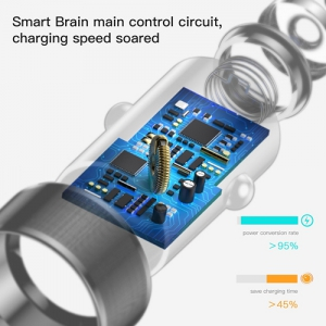 BASEUS(ベースアス) カーチャージャー 36W USB2ポート 最大出力3.4A 急速充電対応  DCAXLD-B01 画像4