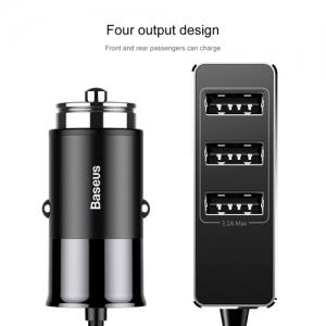 BASEUS(ベースアス) カーチャージャー USB4ポート 出力最大5.5A ブラック  DCCTON-01