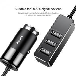 BASEUS(ベースアス) カーチャージャー USB4ポート 出力最大5.5A ブラック  DCCTON-01 画像5