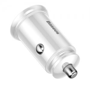 BASEUS(ベースアス) カーチャージャー 30W USB+Type-C ホワイト  DCCALLYS02 画像4