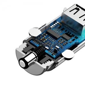 BASEUS(ベースアス) カーチャージャー 30W USB+Type-C ホワイト  DCCALLYS02 画像5
