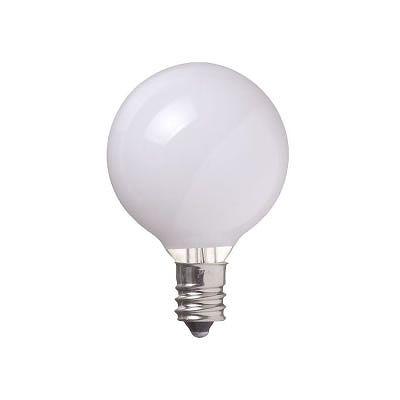 YAZAWA(ヤザワ) ベビーボール球 G40 E12 10W ホワイト G401210W