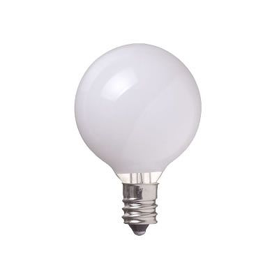 YAZAWA(ヤザワ) ベビーボール球 G40 E12 40W ホワイト G401240W