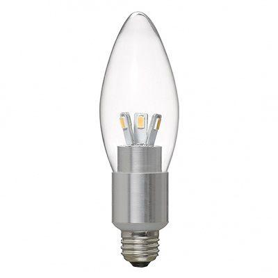 YAZAWA(ヤザワ) シャンデリア形LED電球4W電球色E17 LDC4LG32E17