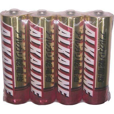 三菱 アルカリ単3電池4本P(100パックセット) LR6R4S-SET100