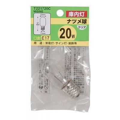 YAZAWA(ヤザワ) ミシン球 T22 E17 20W クリア  T221720CMISINE 画像2