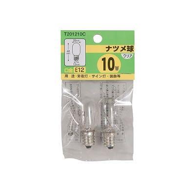 YAZAWA(ヤザワ) ナツメ球 T20 E12 10W クリア 2個パック  T201210C 画像3