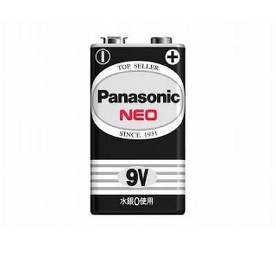パナソニック マンガン乾電池 ネオ黒 9V形 1個入×10パックセット 6F22NB1S-10SET