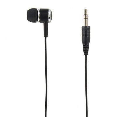 YAZAWA(ヤザワ)カナル型片耳イヤホン ステレオプラグ コード長1mTMS1061BK