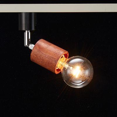 YAZAWA(ヤザワ) ウッドヌードスポットライト(ダクトレール用) シリンダー ダークウッド 電球なし(1灯)  Y07LCX60X01DW 画像3