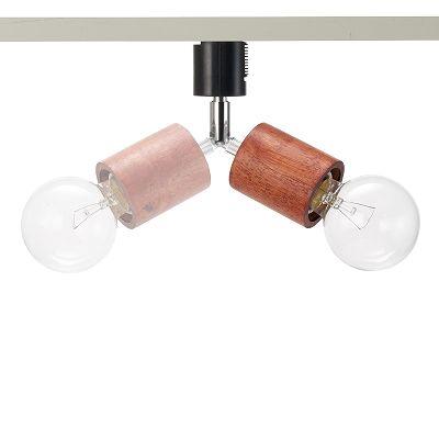 YAZAWA(ヤザワ) ウッドヌードスポットライト(ダクトレール用) シリンダー ダークウッド 電球なし(1灯)  Y07LCX60X01DW 画像4