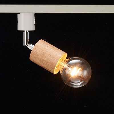 YAZAWA(ヤザワ) ウッドヌードスポットライト(ダクトレール用) シリンダー ナチュラル 電球なし(1灯)  Y07LCX60X01NA 画像3