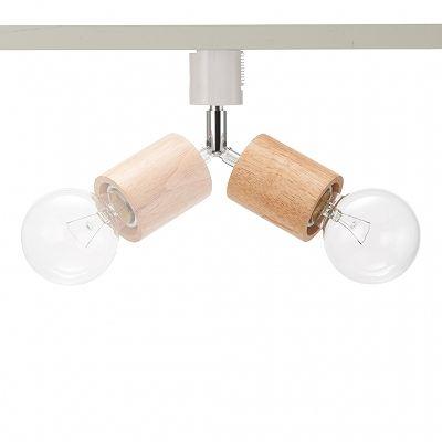 YAZAWA(ヤザワ) ウッドヌードスポットライト(ダクトレール用) シリンダー ナチュラル 電球なし(1灯)  Y07LCX60X01NA 画像4
