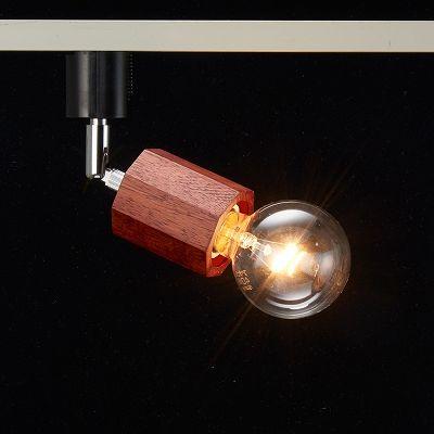 YAZAWA(ヤザワ) ウッドヌードスポットライト(ダクトレール用) オクタゴン ダークウッド 電球なし(1灯)  Y07LCX60X02DW 画像3