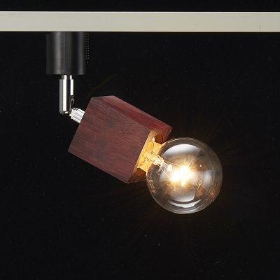 YAZAWA(ヤザワ) 【在庫限り】ウッドヌードスポットライト(ダクトレール用) スクエア ダークウッド 電球なし(1灯)  Y07LCX60X03DW 画像3