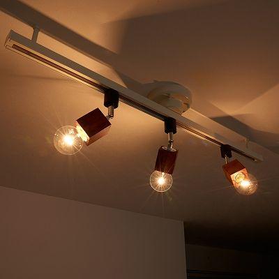 YAZAWA(ヤザワ) 【在庫限り】ウッドヌードスポットライト(ダクトレール用) スクエア ダークウッド 電球なし(1灯)  Y07LCX60X03DW 画像4