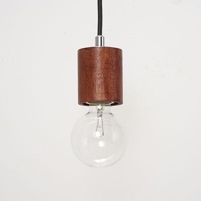 YAZAWA(ヤザワ) ウッドヌードペンダントライト(ダクトレール用) シリンダー ダークウッド 電球なし(1灯)  Y07ICLX60X04DW 画像2