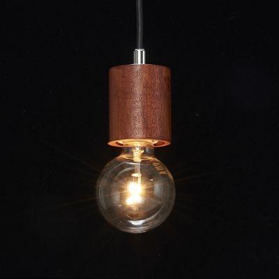 YAZAWA(ヤザワ) ウッドヌードペンダントライト(ダクトレール用) シリンダー ダークウッド 電球なし(1灯)  Y07ICLX60X04DW 画像3