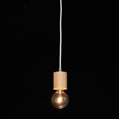 YAZAWA(ヤザワ) ウッドヌードペンダントライト(ダクトレール用) シリンダー ナチュラル 電球なし(1灯)  Y07ICLX60X04NA 画像3