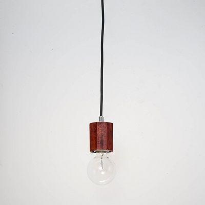 YAZAWA(ヤザワ) ウッドヌードペンダントライト(ダクトレール用) オクダゴン ダークウッド 電球なし(1灯)  Y07ICLX60X05DW 画像2