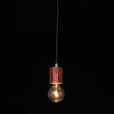 YAZAWA(ヤザワ) ウッドヌードペンダントライト(ダクトレール用) オクダゴン ダークウッド 電球なし(1灯)  Y07ICLX60X05DW 画像3