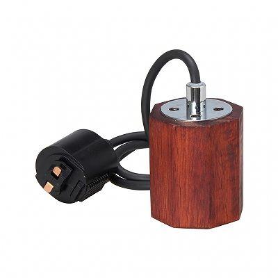 YAZAWA(ヤザワ) ウッドヌードペンダントライト(ダクトレール用) オクダゴン ダークウッド 電球なし(1灯)  Y07ICLX60X05DW 画像4
