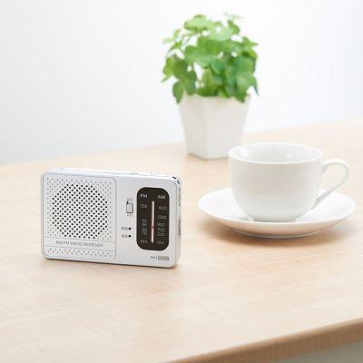 YAZAWA(ヤザワ) 【在庫限り】横置き型AM・FMラジオ シルバー  RD13SV 画像4