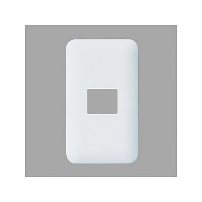 パナソニック コンセントプレート 1連用 1コ用 ラウンド ホワイト WTF7001W