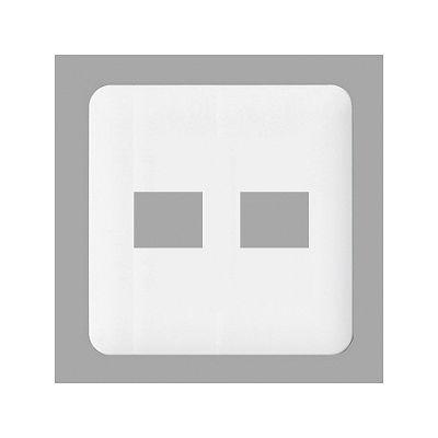 パナソニック コンセントプレート 2連用 2コ(1コ+1コ)用 ラウンド ホワイト WTF7072W