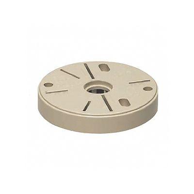 未来工業 ポリ台 照明器具取付用プラスチック絶縁台 丸型 外寸φ117×20mm ブラック POW-120K