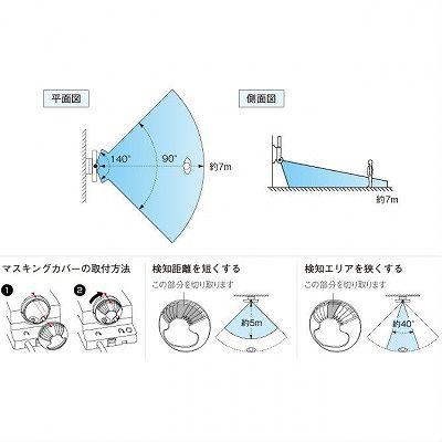 OPTEX(オプテックス) ★センサライトLED1灯タイプ(シルバー)  LA11LEDS 画像2