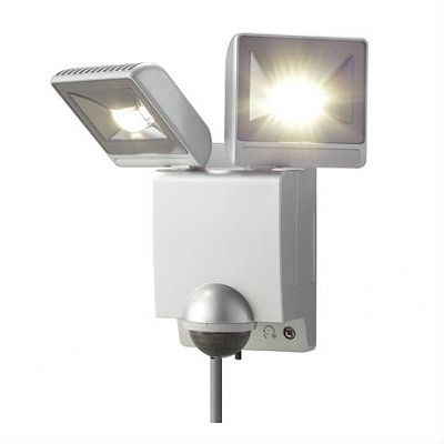 OPTEX(オプテックス) ★センサライトLED2灯タイプ(シルバー)  LA22LEDS