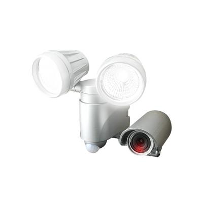 アースマン LEDセンサーライト 録画機能付 AC100V式 ダブル6W×2  SLT-6LWVA