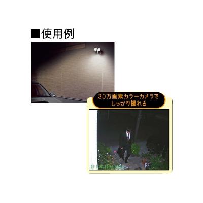 アースマン LEDセンサーライト 録画機能付 AC100V式 ダブル6W×2  SLT-6LWVA 画像2