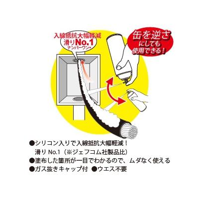 ジェフコム アワコンスリック 泡タイプ入線用潤滑剤  AC-4800R 画像2