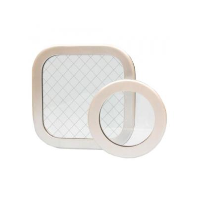 篠原電機 アルミ窓枠 AY型 角型タイプ IP55 金網入りガラス AY-4030AT