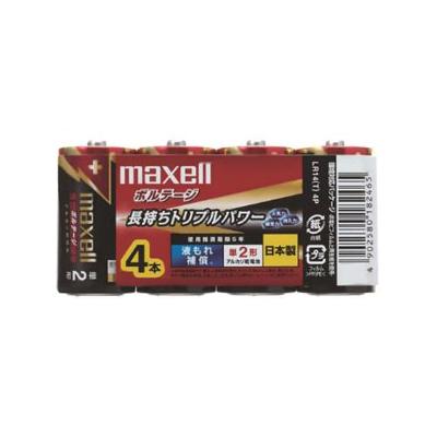 マクセル アルカリ乾電池 《ボルテージ》 単2形 4個入 シュリンクパック  LR14(T)4P