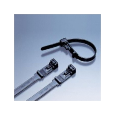 エスケイ工機SKリリースタイ 再使用可能 標準グレード 全長150mm 幅6.9mm 100本入りRS-130HC