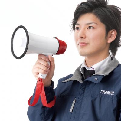 YAZAWA(ヤザワ) 録音機能付きハンドメガホン 5W  Y01HMR05WH 画像5
