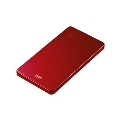 スマートフォン・タブレット用薄型モバイルバッテリー USB出力ポート2ポート搭載 レッド BTL-RDC7R