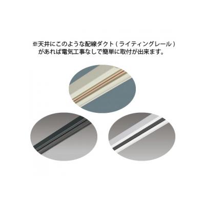東芝 LED小形ペンダントライト ランプ別売 レール用プラグタイプ 鋼板/ピュアホワイト  LEDP88140(W)R 画像2